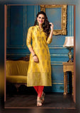 Designer Rayon Gold Printed Straight Cut Kurti