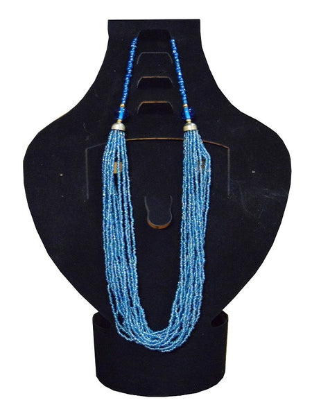 Blue Necklace - PurpleTulsi.com