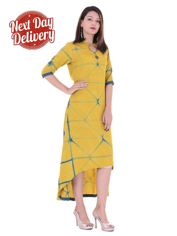 Women's Tie Dye Color Rayon Stylish Kurti