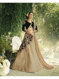 Diwali Special Olive Green+Beige Color 3 Piece Designer Set with Fine Zari and Resham embroidered work
