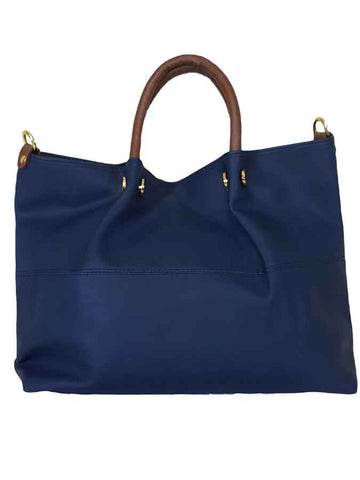 Blue premium pure leather bag - PurpleTulsi.com