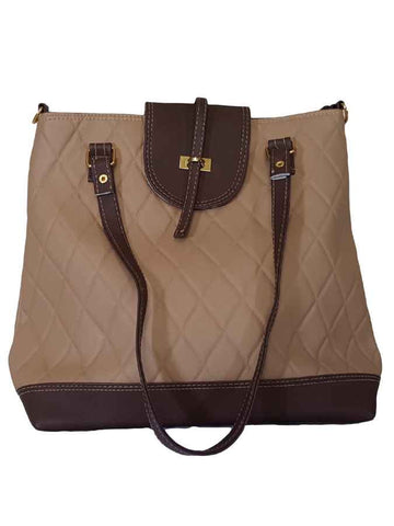 Brown artificial leather bag - PurpleTulsi.com