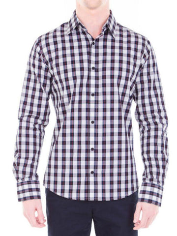 Men's Trendy Red Color Cotton Formal Shirt