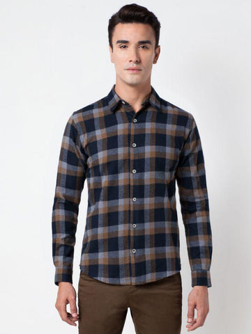 Checked Style Cotton Formal Shirt