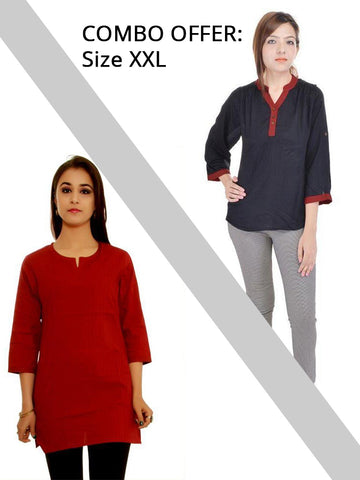 Combo of 2 Designer Short Kurtis
