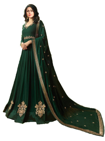Designer Green Color Georgette Embroidered Anarkali Suit