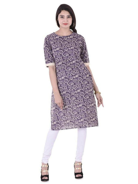 Beautiful Designer Multi Color Printed Cotton Kurti