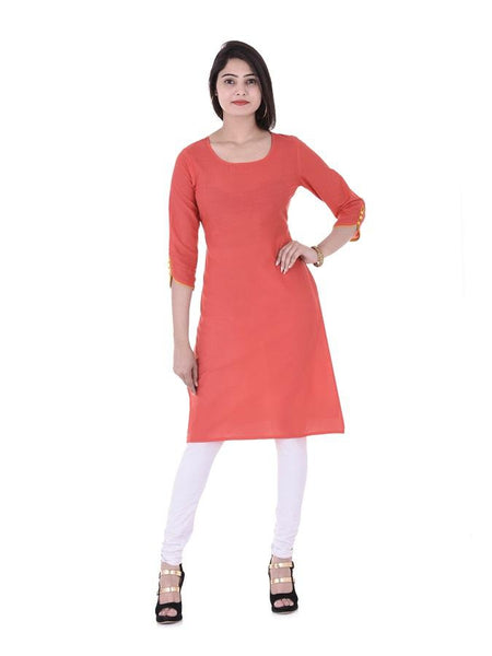 Beautiful Designer Red Color Printed Cotton Kurti