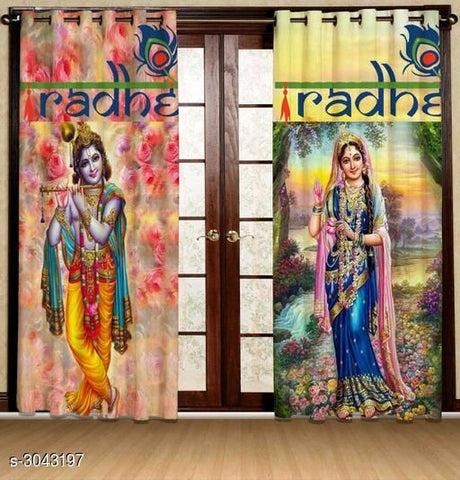 Knitted Stylish Print Curtains for Door