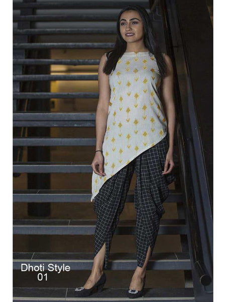 Designer Pure Khadi Kurti and Bottom