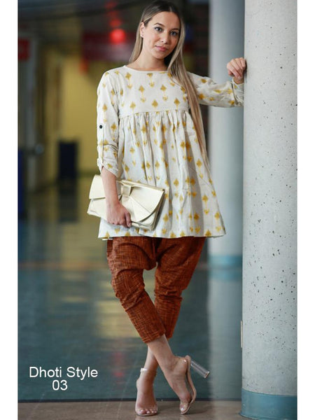 Designer Pure Khadi Kurtis and Bottom