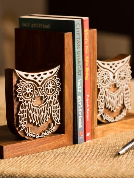 Owl Book End With Hang Engraving