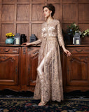 Beautiful Cream Net Embroidered Anarkali Suit