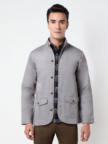 Cotton Blend Jacket Grey Color