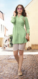 Green Color Flex Rayon Top