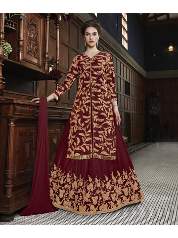 Designer and Beautiful Maroon Color Anarkali Suits