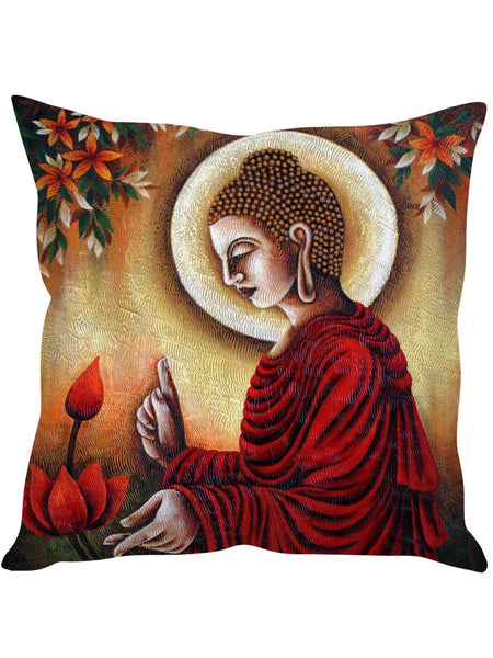 Peace and Flowers Designer Cushion Cover