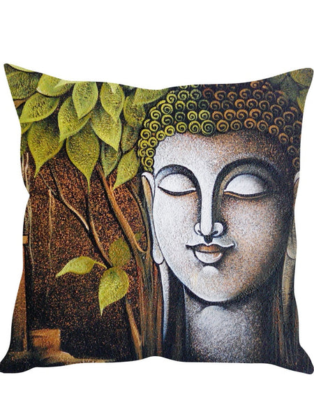 Green Peace Designer Cushion Cover