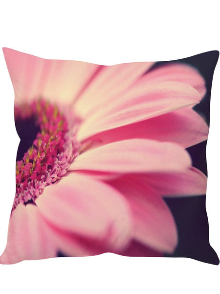 Floral Pink Designer Cushion Cover