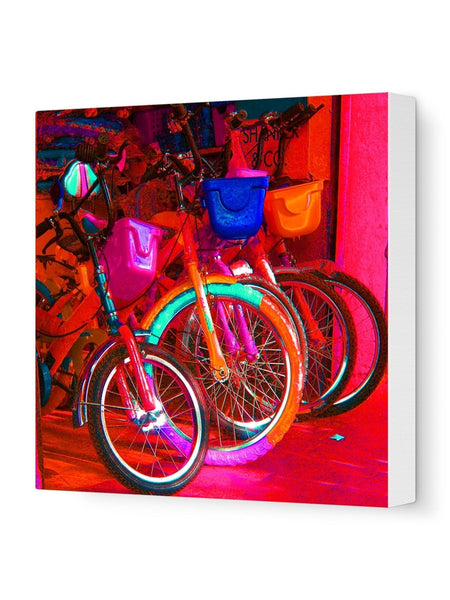 By cycle Canvas Art Print