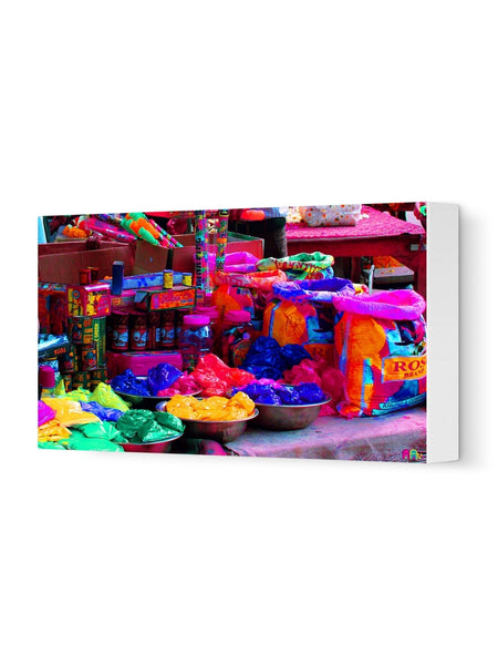 Let's Paly Holi Canvas Art Print