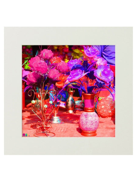 Flower Pot Mounted Digital Art Print