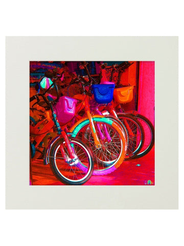 By cycle Mounted Digital Art Print