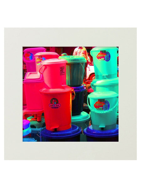 The Bins Mounted Digital Art Print
