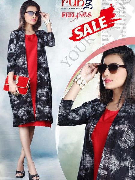 Red & Black Color Kurti