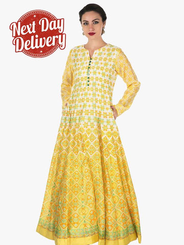 Designer Multi Color Digital Printed Kurti