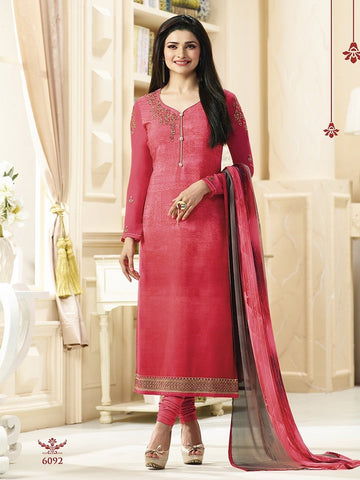 Reshma Embroidered Pink Designer Straight Salwar Suit