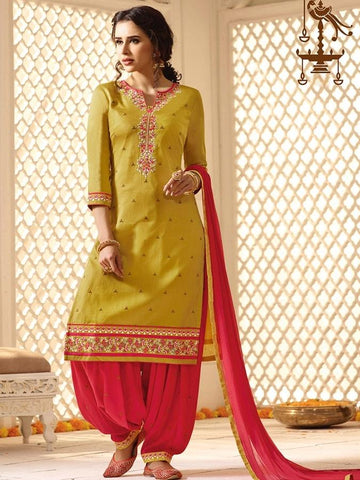 New Look  Yellow Color Patiala Suit