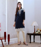 Beautiful and Designer Blue Color Straight Cut Kurti