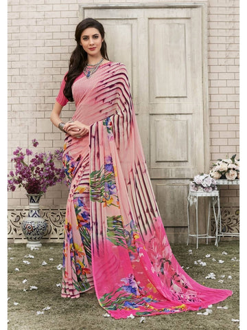 Beautiful Multi Georgette Printed Saree