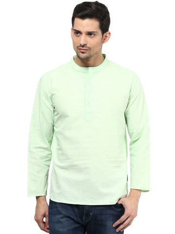 Men's Ethinc Short  GreenColor Kurta