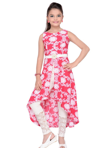 Pink Trendy Dress - PurpleTulsi.com