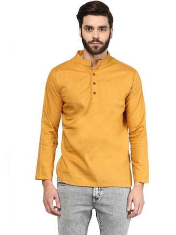 Men's Ethinc Short  GoldenColor Kurta