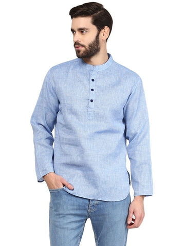 Men's Ethinc Short  Light BlueColor Kurta