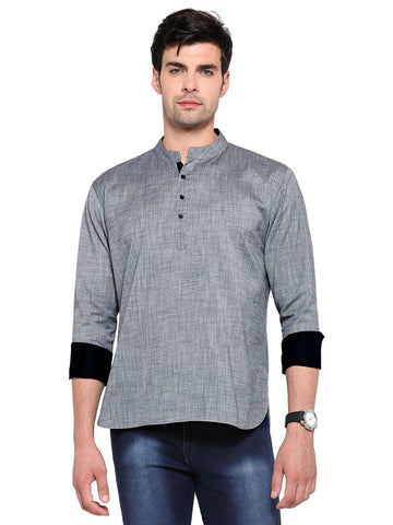 Men's Ethinc Short  GreyColor Kurta