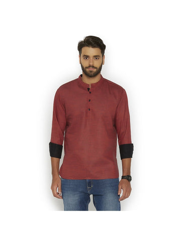 Men's Ethinc Short  MaroonColor Kurta