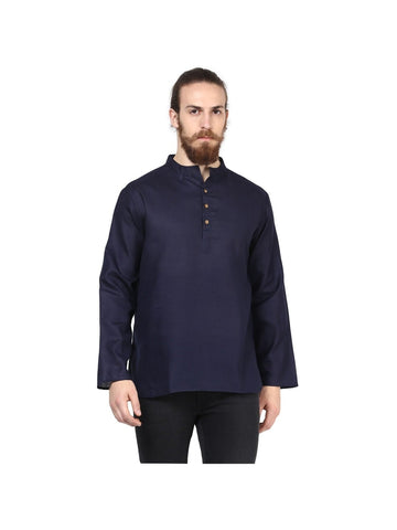 Men's Ethinc Short  Navy BlueColor Kurta