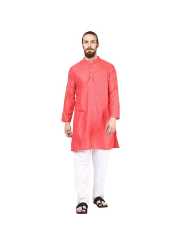 Men's Ethinc Long  PeachColor Kurta