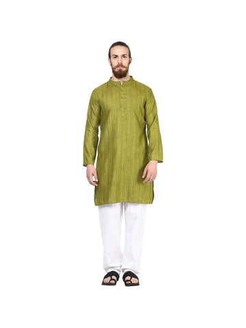 Men's Ethinc Long  GreenColor Kurta