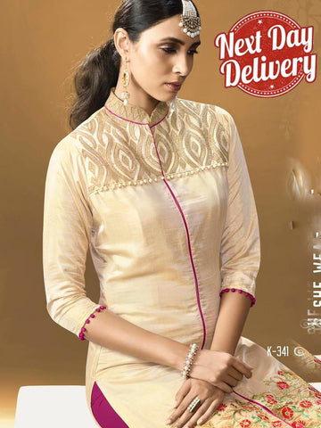 Beige Kurti Dress with Inner
