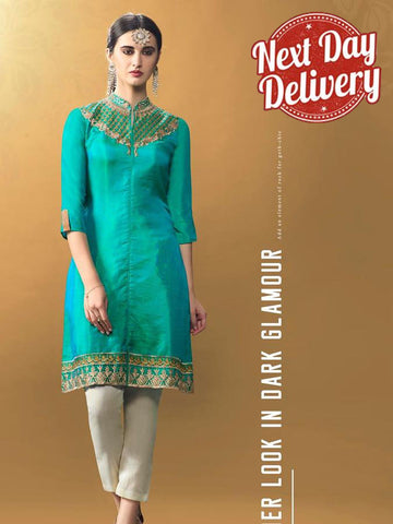 Tiffany Blue Kurti Dress with Inner
