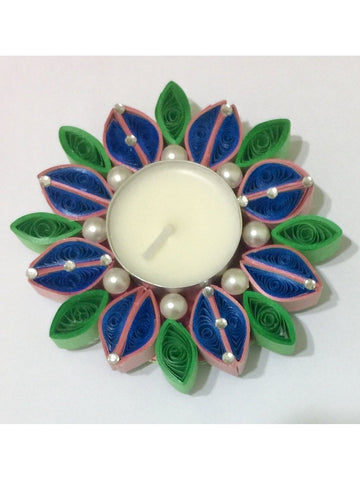 Gracefull Multicolor Quilled Tealight Holder
