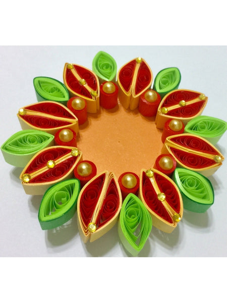 Attractive Multicolor Quilled Tea Light Holder