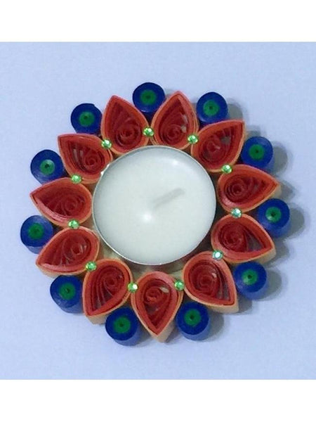 Alluring Multicolor Quilled Tea Light Holder