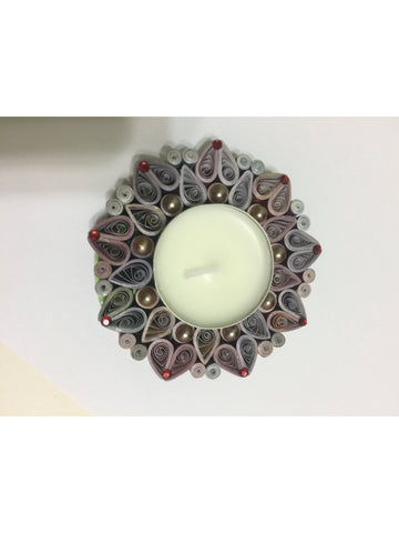 Fanciable Multicolor Quilled Tea Light Holder
