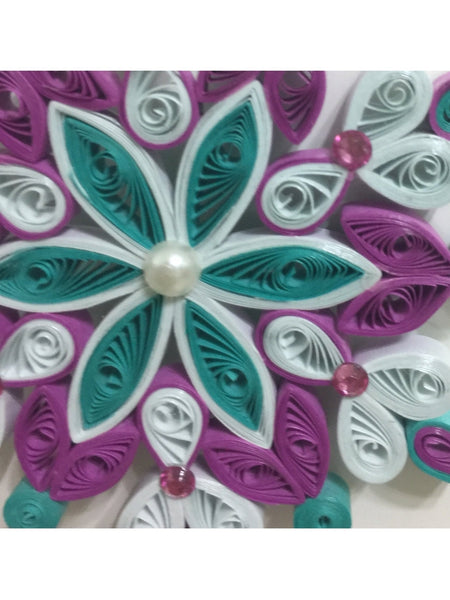 Gracefull Multicolor Quilled Wall Décor
